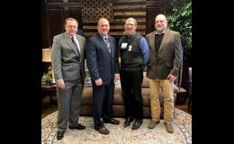 """Visitors from Caldwell County included Terry Rumery, Economic Development Director; C.R. """"Bud"""" Motsinger, Presiding Commissioner; and Rex Hibler, Western District Commissioner."""