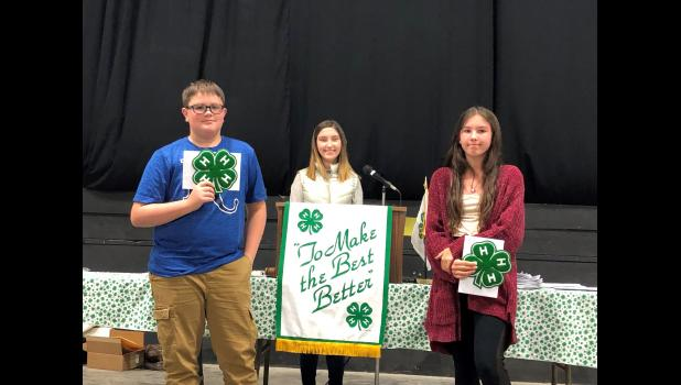 Carrie McBee Award to Aidan Anderson, Hamilton Achievers and Alanah Haase, Pleasant Hill Hustlers