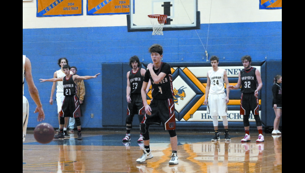 Gabe Rogers, Keaton O'Dell, Austin Hall and Jordan Miller face the Lathrop Mules