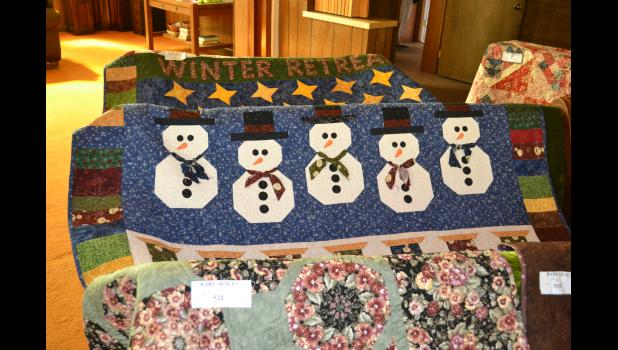 Many quilts were made with a holiday theme in mind.