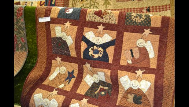 Angels adorn this quilt to keep you warm this winter.