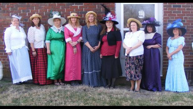 Faculty/Staff enjoy 100 Year Anniversary: Mrs. Teri Robinson, Ms. Dana Still, Mrs. Colleena Johnson, Ms. Amy Klindt, Mrs. Misti Johnson, Mrs. Jill Dietrich, Mrs. Glenda Carroll, Mrs. Katy Habrock and Mrs. Lori Robinson.