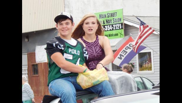 Freshman Andrew Stone and Mary Copeland