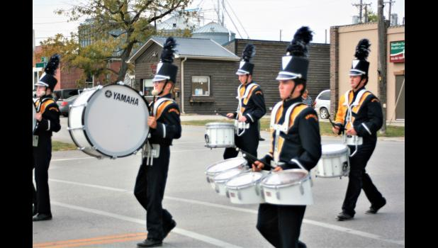 Penney High marching band in the Homecoming parade.