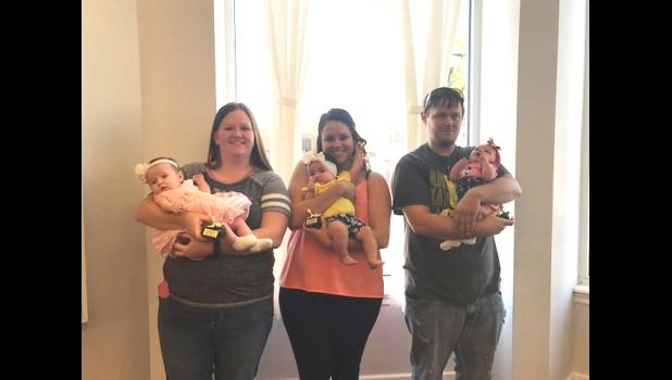 0-3 MONTH GIRLS: 1st Emma Moore, Parents; Madlyn Flaherty and Chris Moore. 2nd Jaqueline Lane, Parents; Michael and Tammy Lane. 3rd Alana Barr, Parents; Phillip and Tammy Barr.