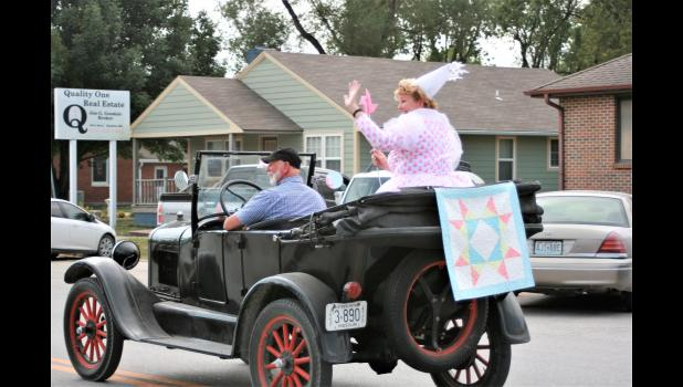Jenny Doan of MSQC is seen in the parade.