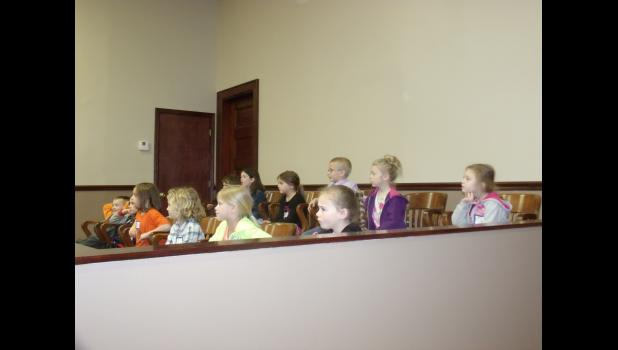 Jury hears the case.