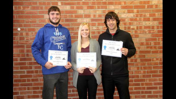 Pictured are Jordan Miller, Madison Mallory and Logan O'Dell