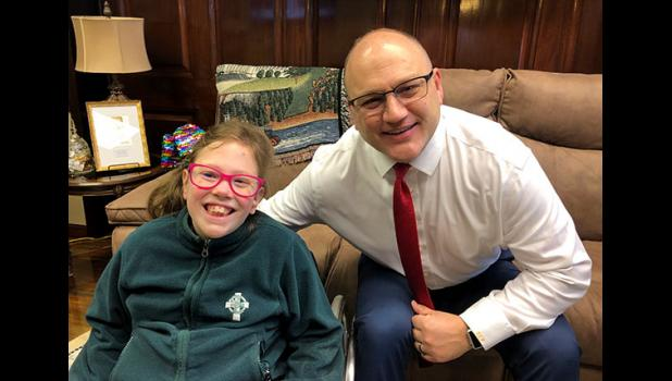 I was thrilled to meet with 9-year-old Izabella from Springfield, one of many children who would benefit from the passage of Senate Bill 45.