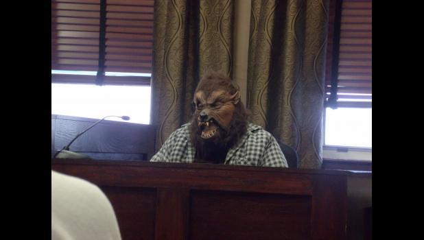 Wolf pleading his case.