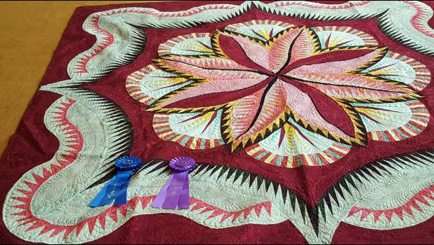 Best of Show was awarded to Linda Schwaninger with her beautiful quilt.
