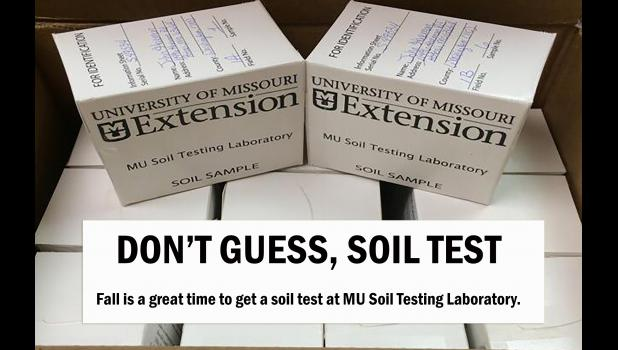 Fall is the best time to submit soil samples.