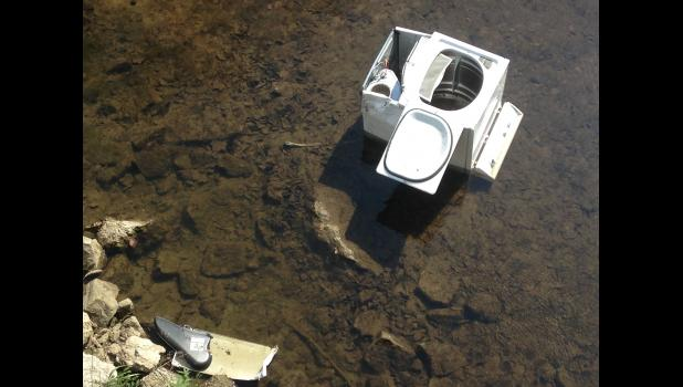 Dryer found off Log Creek Bridge