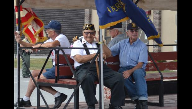 Veterans attending the parade in Hamilton.