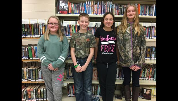 Pictured L to R: 1st- Kennedy Tuttle; 2nd- Johnny Morrison; 3rd- Lakelyn Shatto; 4th- Elizabeth Gordon