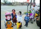 Trick or Treaters parade through Hamilton