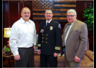 Senator Hoskins visited with Shane Lockard, EMS Chief and CEO of the Johnson County Ambulance District, and Dr. David Gustafson, medical director for the Johnson and Pettis County districts.